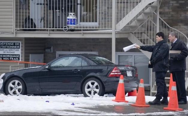 La scène de crime du quartier Notre-Dame-de-Grâce... (La Presse Canadienne)