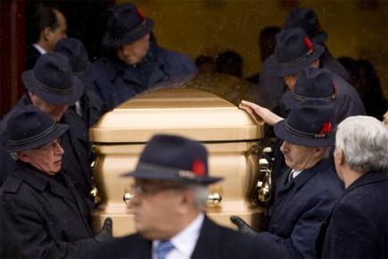 Les funérailles de Nicolo Rizzuto, fils du chef présumé de la mafia... (Photo: David Boily, La Presse)