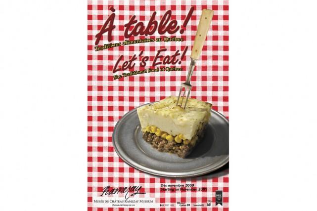 À table! présente l'évolution de la culture culinaire... (Photo: Musée du Château Ramezay)