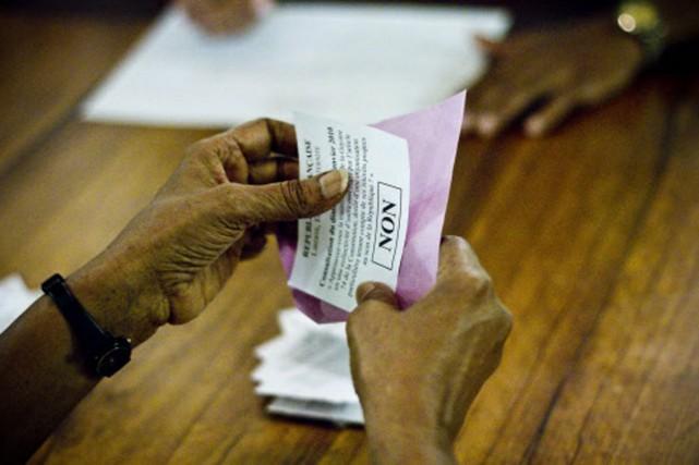 En Martinique, 78,9% des électeurs ont rejeté le... (Photo: AFP)