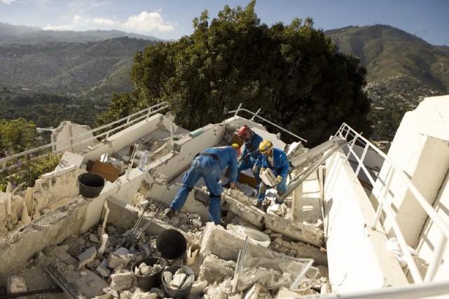 Plusieurs Canadiens séjournaient à l'hôtel Montana, à Port-au-Prince,... (Photo: David Boily, La Presse)