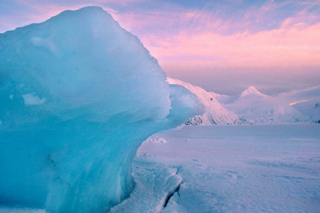 Un glacier, en Alaska.... (Photo: Archives AP)