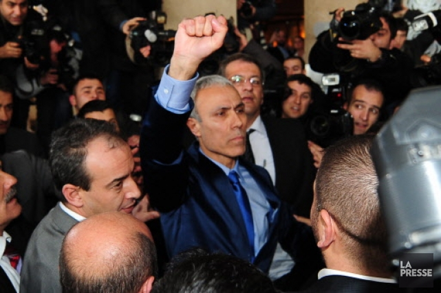 Mehmet Ali Agca, au centre.... (Photo: AFP)