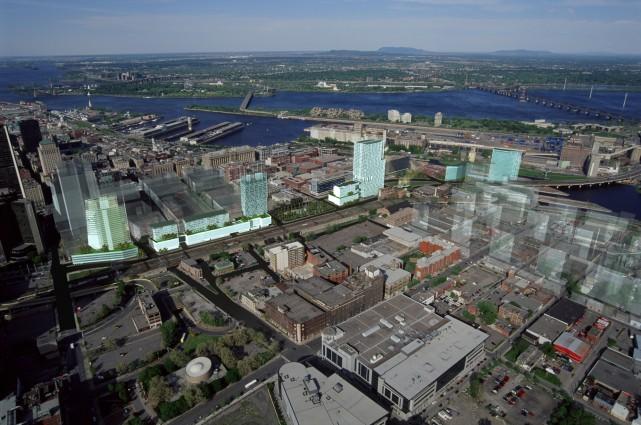 La Société du Havre propose de doter Montréal d'une entrée de ville... (Photo fournie par la Société du Havre)