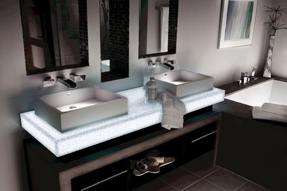 Dans la salle de bains, les comptoirs sont... (Photo Dupont)