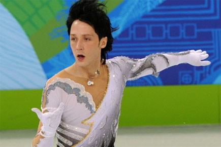 Le patineur Johnny Weir... (Photo: AFP)