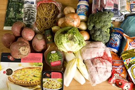 Que mangent les gens qui font appel aux banques alimentaires? Pour le savoir,... (Photo: François Roy, La Presse)