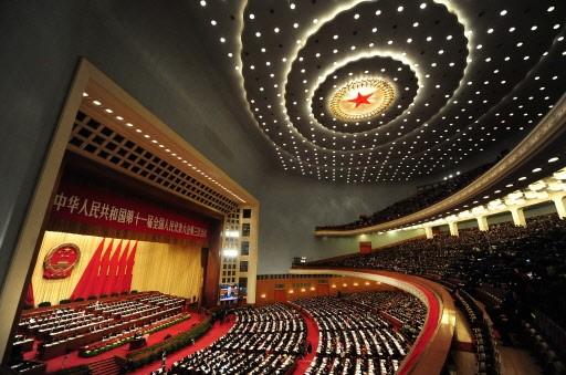Wen Jiabao a prononcé son discours dans la... (Photo: AFP)