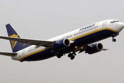 Un avion de Ryanair... (Photo: AFP)