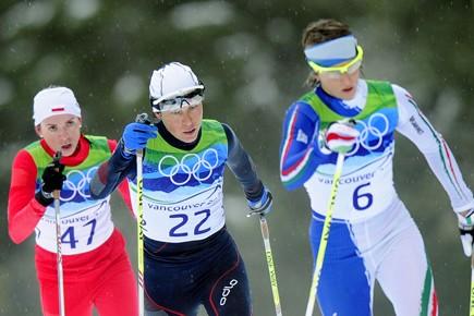 La Polonaise Kornelia Marek, à gauche.... (Photo AFP)