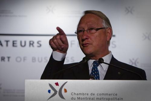 Gérald Tremblay a pris la parole devant une... (Photo: André Pichette, La Presse)