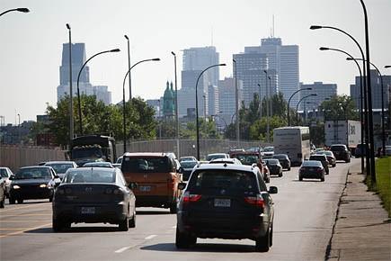 Photo de la rue Notre-Dame. Le projet de... (Photo: André Pichette, La Presse)