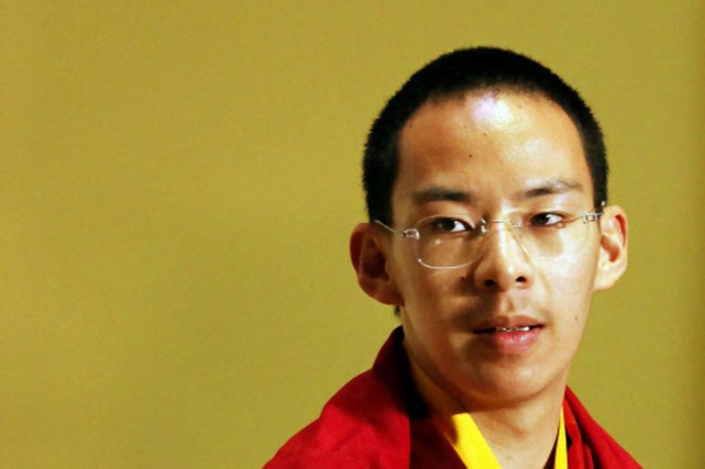 Gyeltsen Norbu, 20 ans, a été désigné par... (Photo: AP)