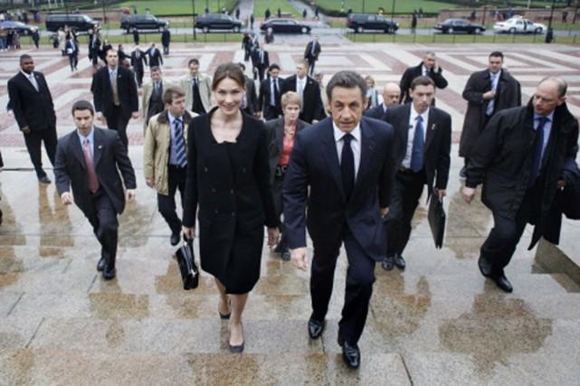 Nicolas Sarkozy et sa femme, Carla Bruni, à... (Photo: AP)
