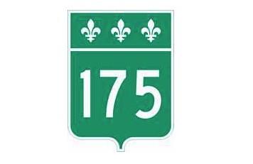La Sûreté du Québec a dû interrompe la circulation au km 70 de la  route 175,... (Transports Québec)
