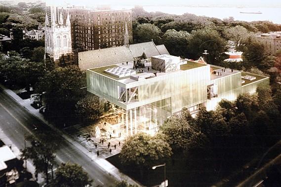 L'édifice gagnant du concours d'architecture du nouveau pavillon... (Photothèque Le Soleil, Erick Labbé)