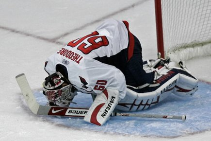 Jose Theodore, gardien des Capitals.... (Photo d'archives AP)