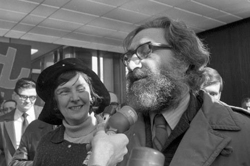 Le 16 février 1971, Michel Chartrand, emprisonné pendant... (Photo: Paul-Henri Talbot, Archives La Presse)