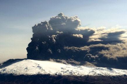 L'éruption spectaculaire d'un volcan islandais inconnu au bataillon place le... (Photo: AFP)
