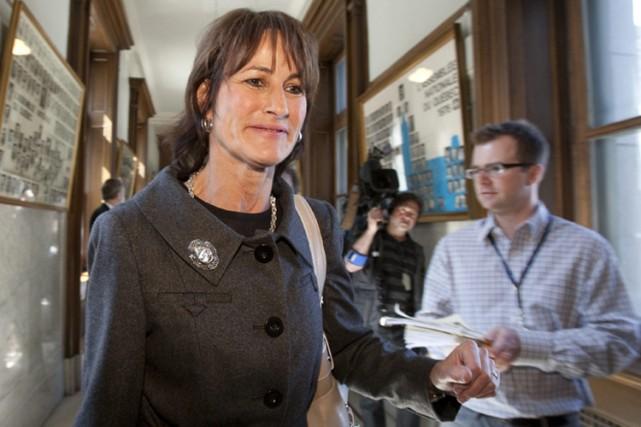 En janvier dernier, la ministre de la Justice,... (Photo: PC)