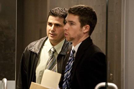 L'agent Serge Junior Parent (à gauche sur notre... (Photo: François Roy, La Presse)