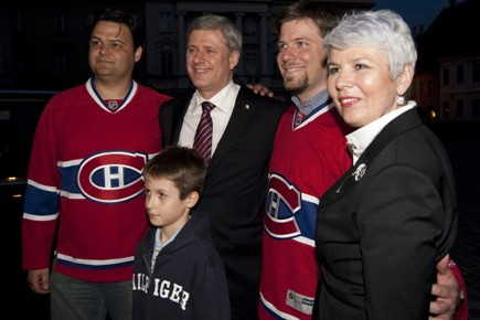 Stephen Harper et la Première ministre de la... (Photo: PC)