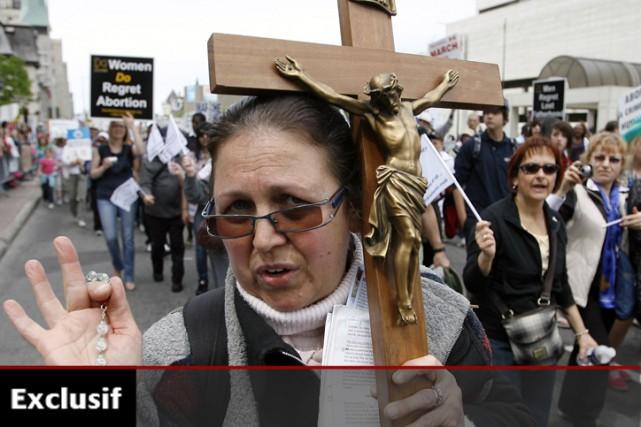 La semaine dernière, des groupes opposés à l'avortement... (Photo: PC)
