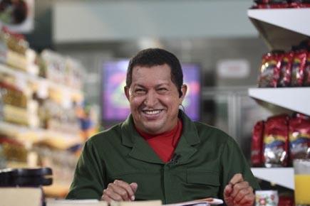 Le président Chavez en pleine action lors du... (Photo: Reuters)