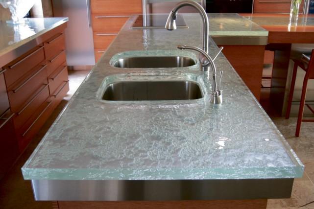 Les grandes innovations du verre marie france l ger design - La cuisine du comptoir ...