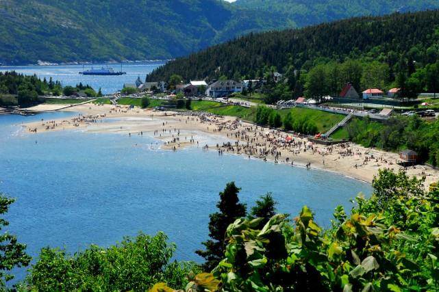 La plage de Tadoussac... (Photo: fournie par le Festival de la chanson de Tadoussac)