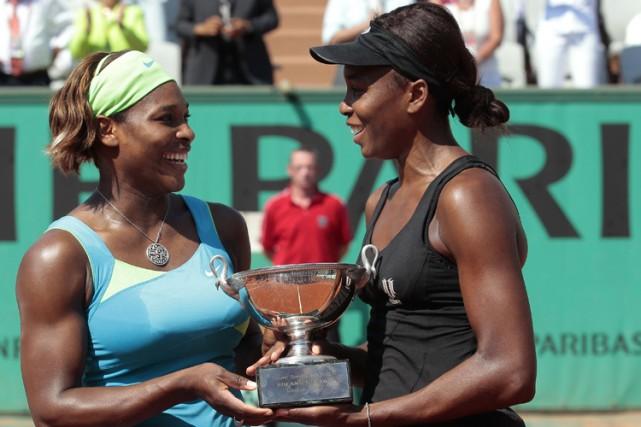 Les soeurs Williams sont la troisième paire à... (Photo: AFP)