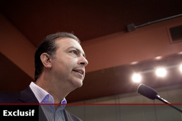 Àla conférence de presse au cours de laquelle... (Photo: Marco Campanozzi, La Presse)