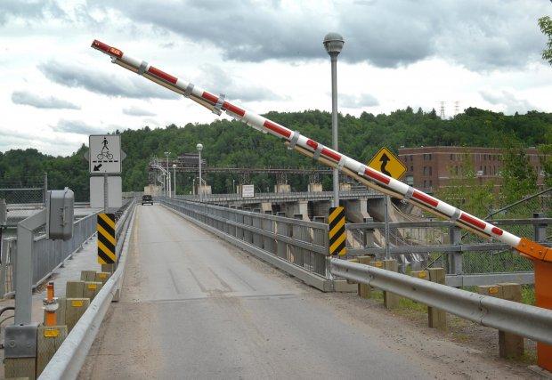 L'accès au lien interrives de la centrale La... (Photo: Ève Guillemette)