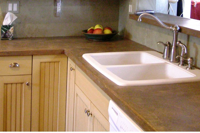 Un produit pour transformer les comptoirs foyers et - Stratifie dans cuisine ...