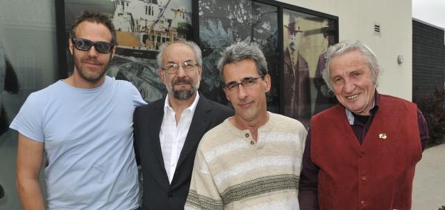 Les sculpteurs Patrice Duchesne, Giuseppe Benedetto, Yves Tremblay... (Le quotidien, Rocket Lavoie)