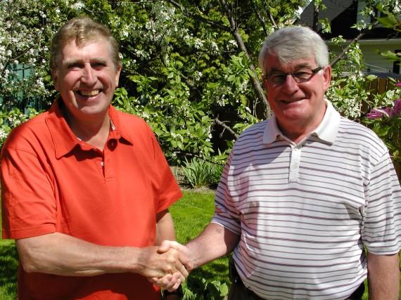 Marcel Gilbert et Jacques Métras.... (Photo: Marc Rochette)