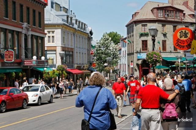 Une partie de la rue Saint-Jean, Québec.... (Le Soleil, Laeticia Deconinck)