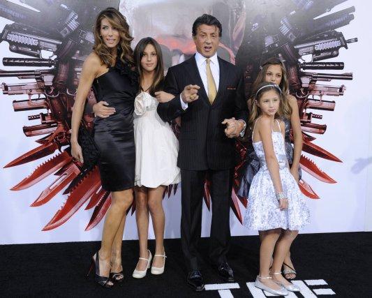 Sylvester Stallone, sa femme Jennifer Flavin et leurs... (Photo Reuters)