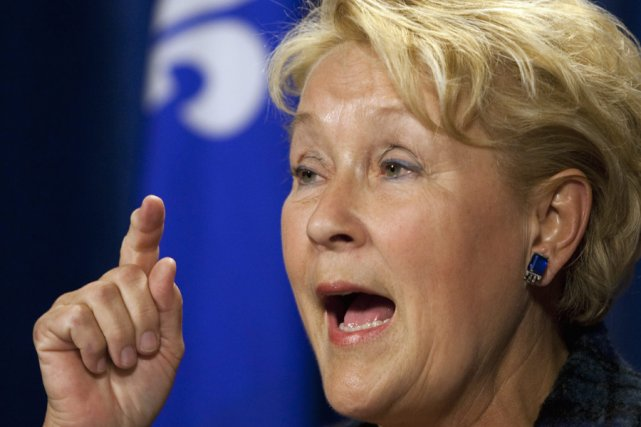 La chef du PQ, Pauline Marois... (Photo: PC)