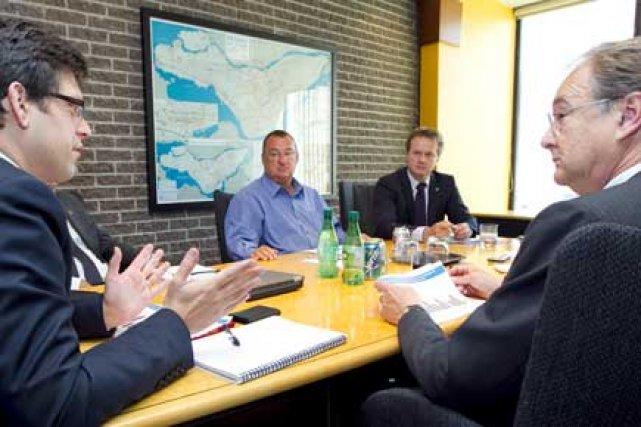Richard Anderson (à gauche) et Stephen Glaister (à... (Photo: Alain Roberge, La Presse)