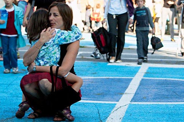 L'entrée à l'école peut être angoissante pour les... (Photo: François Roy, La Presse)