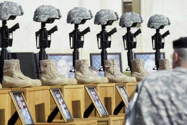 Un mémorial aux victimes de la tuerie de... (Photo AP)