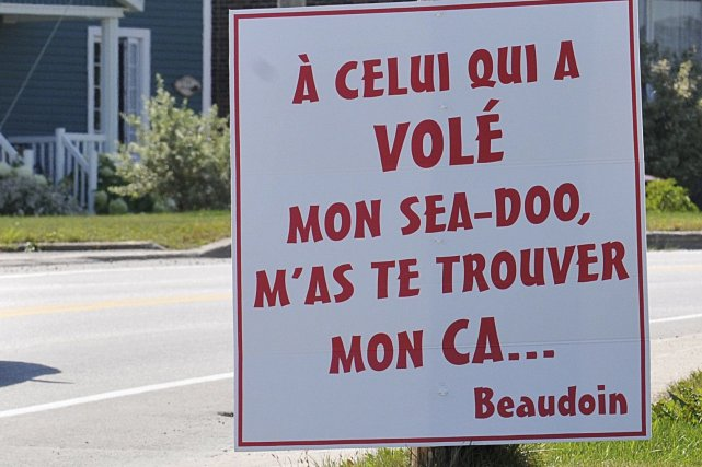 Le message de Stéphane Beaudoin, installé sur un... (Le Quotidien, Rocket Lavoie)