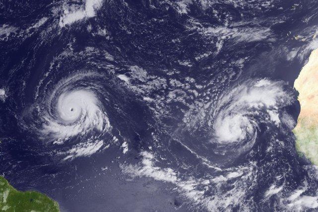 Igor et Julia forment le premier couple d'ouragans... (Photo: AFP)