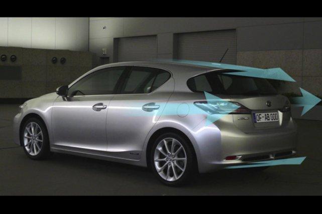 La Lexus CT 200h serait la plus aérodynamique... (Illustration fournie par Lexus)