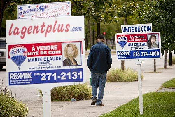 L'activité du marché résidentiel de la revente et le prix moyen étaient ... (Photo: David Boily, archives La Presse)