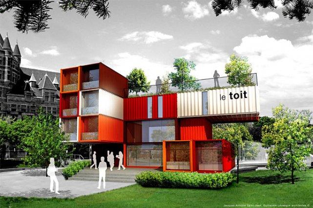 des conteneurs pour aider les sans abri immobilier. Black Bedroom Furniture Sets. Home Design Ideas