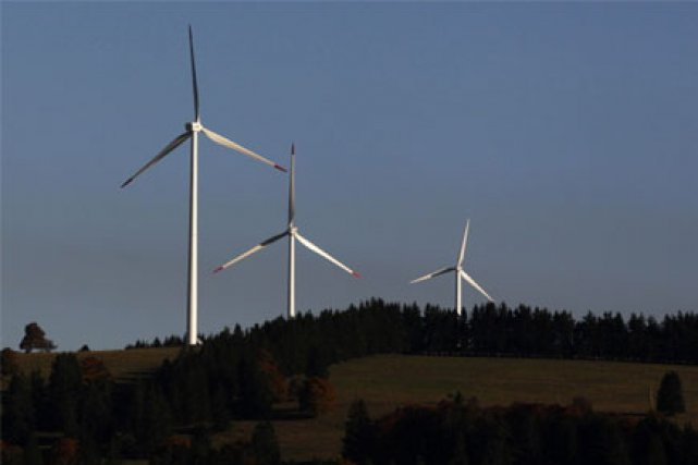 L'un des plus grands parcs éoliens du pays... (Photo: Reuters)