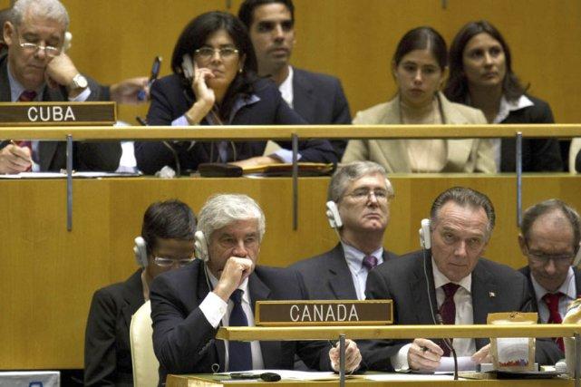 Le ministre des Affaires étrangères du Canada, Lawrence... (Photo: AFP)