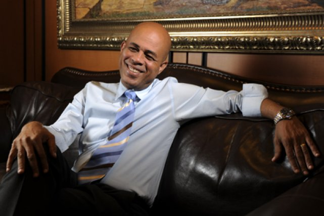 Selon Michel Martelly, la dévastation d'Haïti ne date... (Photo: Bernard Brault, La Presse)